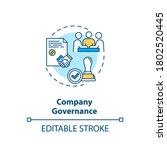 company governance concept icon.... | Shutterstock .eps vector #1802520445