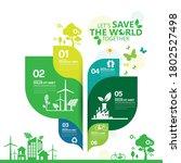 ecology.green cities help the... | Shutterstock .eps vector #1802527498