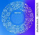 meeting concept in circle with... | Shutterstock .eps vector #1802527525