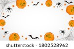 pumpkins on white halloween... | Shutterstock .eps vector #1802528962