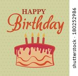 birthday  design over dot... | Shutterstock .eps vector #180252986