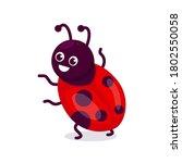 Cute Ladybug Insect Mascot...