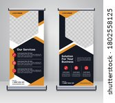 corporate rollup or x banner... | Shutterstock .eps vector #1802558125