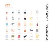 crime icon set. crime flat icon ... | Shutterstock .eps vector #1802574598