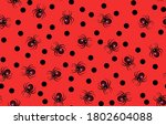 halloween spider pattern....   Shutterstock .eps vector #1802604088