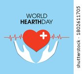 world hearth day vector... | Shutterstock .eps vector #1802611705
