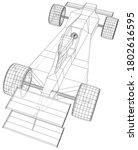 race car. wire frame. eps10... | Shutterstock .eps vector #1802616595