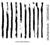 vector set of grunge brush... | Shutterstock .eps vector #180264812