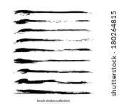 vector set of grunge brush... | Shutterstock .eps vector #180264815