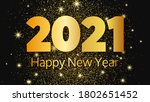 2021 happy new year gold... | Shutterstock .eps vector #1802651452