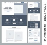 landing page wireframe site...