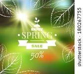 spring sale blur banner | Shutterstock .eps vector #180267755