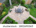 Circular Garden Patio With...