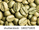 green coffee beans. | Shutterstock . vector #180271835