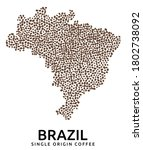 shape of brazil map made of... | Shutterstock .eps vector #1802738092