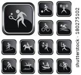 sport button set | Shutterstock .eps vector #180275102