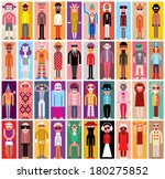 mosaic portraits   large group... | Shutterstock .eps vector #180275852