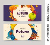 Autumn Banner Design With...