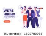we're hiring banner design.... | Shutterstock .eps vector #1802780098