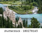 Bow River And The Hoodoos Near...