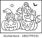 coloring book page for...   Shutterstock .eps vector #1802799232