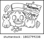 coloring book page for... | Shutterstock .eps vector #1802799238