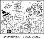 coloring book page for... | Shutterstock .eps vector #1802799262