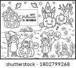 coloring book page for... | Shutterstock .eps vector #1802799268