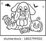 coloring book page for... | Shutterstock .eps vector #1802799502