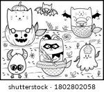 coloring book page for... | Shutterstock .eps vector #1802802058