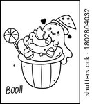 coloring book page for... | Shutterstock .eps vector #1802804032