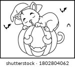 coloring book page for... | Shutterstock .eps vector #1802804062