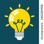 light bulb icon  concept of...   Shutterstock .eps vector #180280988