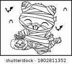coloring book page for... | Shutterstock .eps vector #1802811352