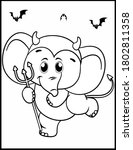 coloring book page for... | Shutterstock .eps vector #1802811358
