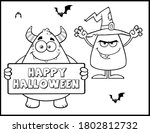 coloring book page for... | Shutterstock .eps vector #1802812732