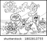 coloring book page for... | Shutterstock .eps vector #1802813755