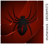 black poisonous spider on black ...   Shutterstock .eps vector #1802849272
