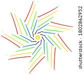 circular pattern in form of... | Shutterstock . vector #1802862952