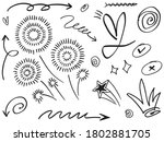 abstract arrows  ribbons ...   Shutterstock .eps vector #1802881705