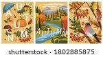 autumn mood. vector set of hand ... | Shutterstock .eps vector #1802885875