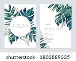 botanical wedding invitation... | Shutterstock .eps vector #1802889325
