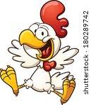happy cartoon chicken. vector... | Shutterstock .eps vector #180289742