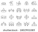 large collection of co working... | Shutterstock .eps vector #1802901085
