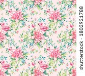 stylish floral seamless rapport ...   Shutterstock . vector #1802921788