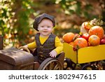 Little Baby Boy In A Tractor...