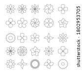 icon set of flower. trendy... | Shutterstock .eps vector #1802953705