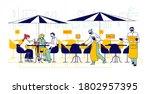 restaurant disinfection ...   Shutterstock .eps vector #1802957395