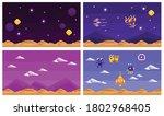 arcade computer game set of... | Shutterstock .eps vector #1802968405