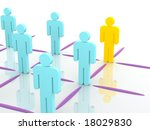 silhouettes of people. 3d | Shutterstock . vector #18029830